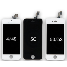 Wholesale High Screen For iPhone 4G 4S 5C 5 5G 5S LCD Display + Touch Screen Digitizer Assembly + Frame +Tools Free Shipping