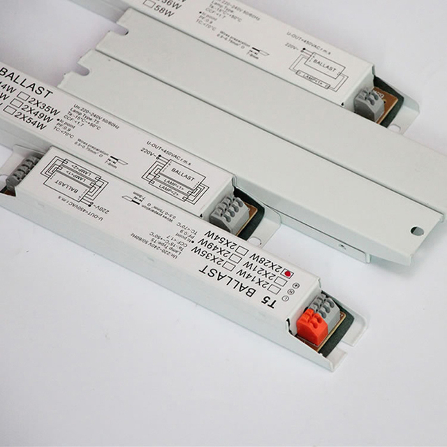 2pcs T5 2X28W 2X14W 2X54W T8 18W 36W 220V-240V 50/60HZ High Power Electronic Ballasts 210X30X20 mm