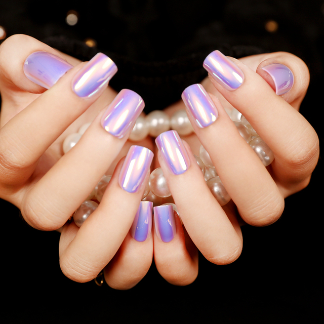 Faux ongles presse moda de alta luz uñas Consejos Color múltiple ...