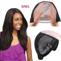 Gorros de peluca AliLeader S M L 5*5 Mono para hacer peluca Natural, línea de pelo, peluca de encaje ajustable de alta elasticidad, gorra tejida con correas