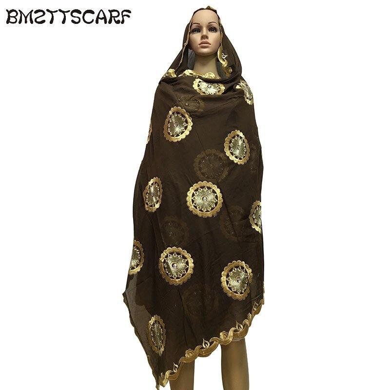 ea84b7efa36a 100% Coton Écharpe musulmane africaine femmes écharpes coton doux gros szie  écharpe pour châles wraps ...