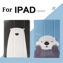 Cartoon Case for iPad mini 1 2 3 4 Magnet Smart Cover Triple Folding air New 9.7 2017 +Touch Pen