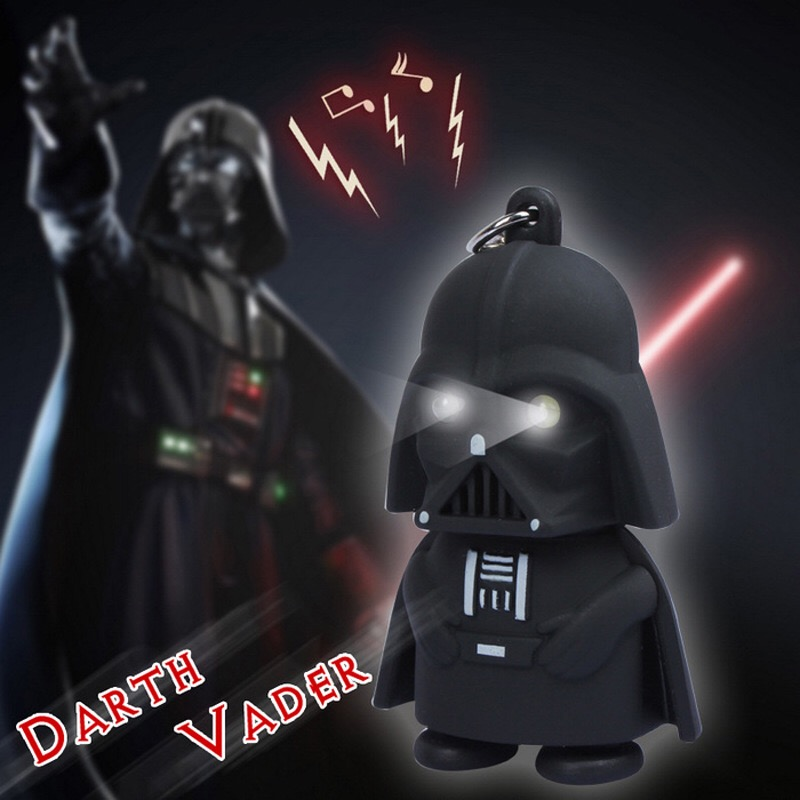 Star Wars Darth Vader Motorcycle Car <font><b>Sound</b></font> <font><b>Light</b></font> <font><b>Led</b></font> DIY <font><b>Key</b></font> <font><b>Chain</b></font> Ring Holder Bag <font><b>pendant</b></font>