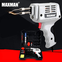 MAXMAN 220 V 12 sets Accessoires Handleiding Tin Pistool Zuig Tin Apparaat Elektrische Lassen Pistool Tool Automatische Tin Soldeerbout Gun
