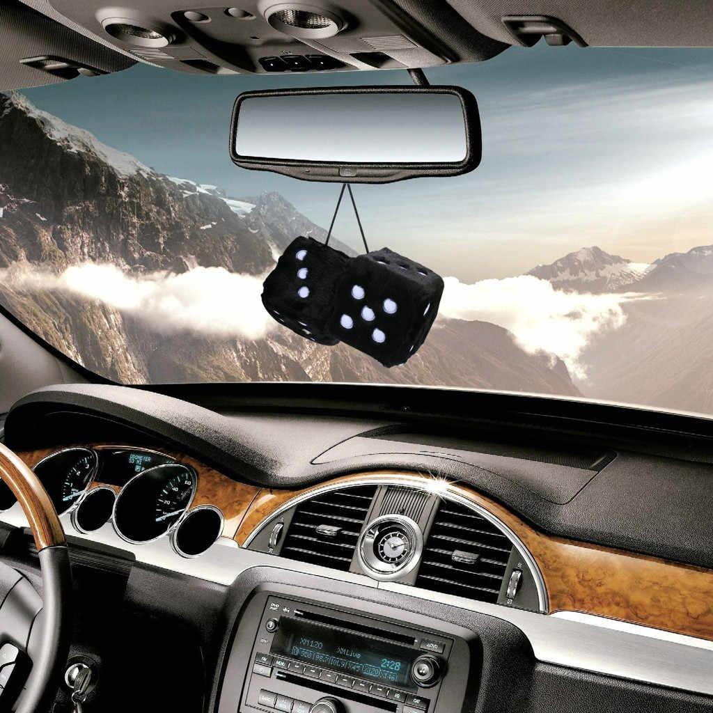 Decoración de coche espejo retrovisor decoración de gancho dado de peluche colorido Craps espejo colgante de coche colgante suspensión decoración del hogar