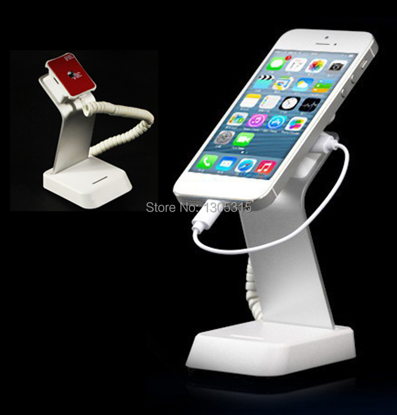 10xCell mobile phone security stand iphone alarm holder charging phone anti theft bracket for retail shop wholesale price mobile phone anti theft alarm display stand with charging for exhibition