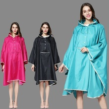 WINSTBROK Fashion Raincoat Women Hooded Outdoor Travel Rain Coat Motorcycle Waterproof Rainwear Rain Jacket Women Raincoat