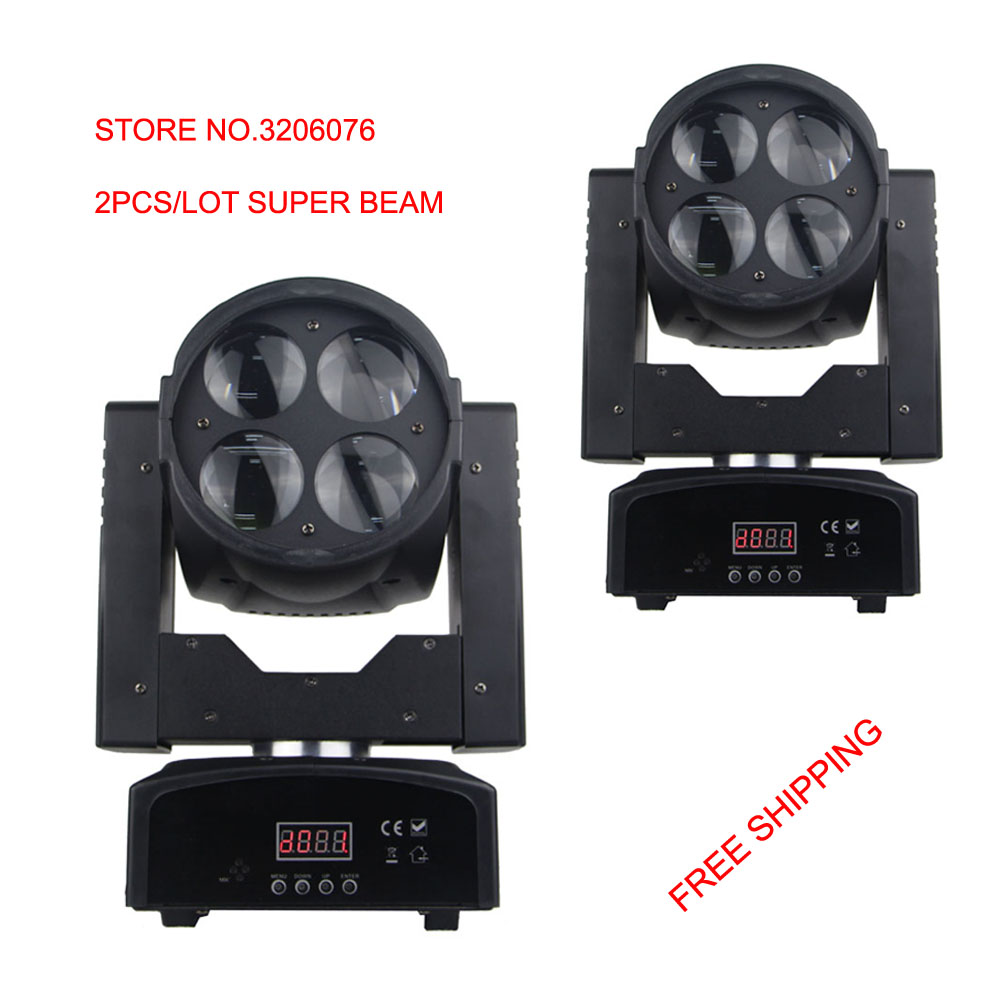 2pcs/Lot stage decorations 4x15w moving head super beam white LED and color wheel rotation beam effect for party and night club xr e2530sa color wheel 5 color beam splitter used disassemble
