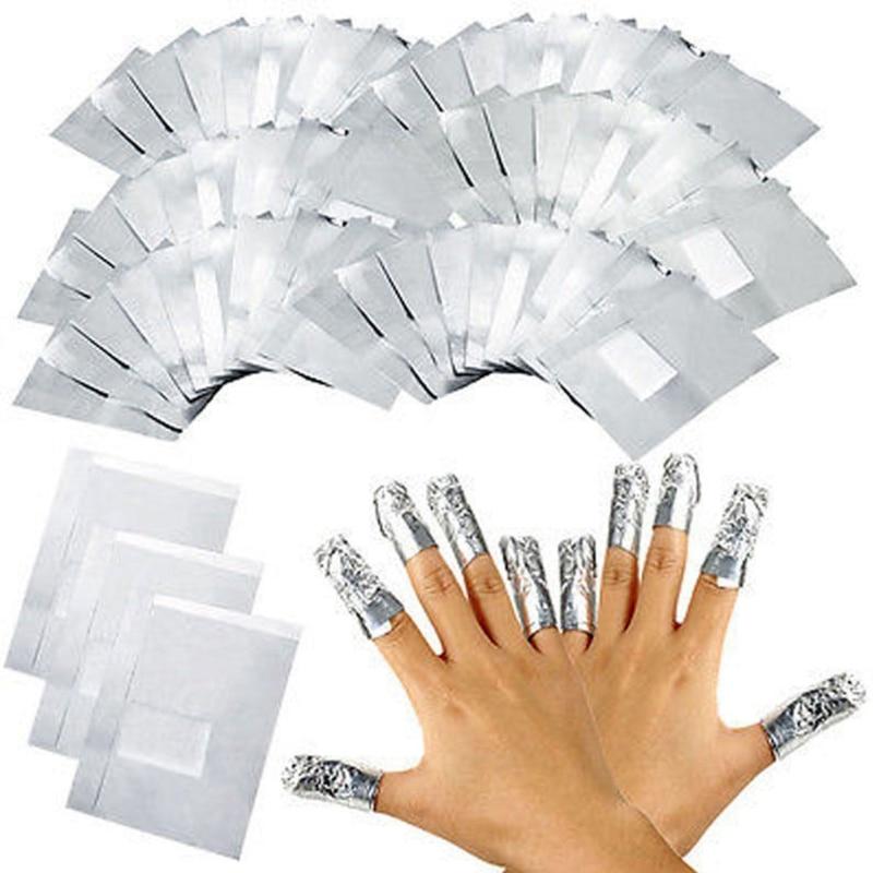 50/150/200pcs Aluminium Foil Nail Art Soak Off Acrylic Gel Polish Nail Wraps Remover
