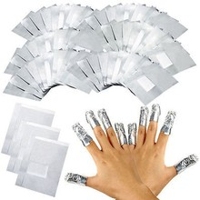 50/150/200 pces folha de alumínio arte do prego embeber fora acrílico gel polonês unha envolve removedor