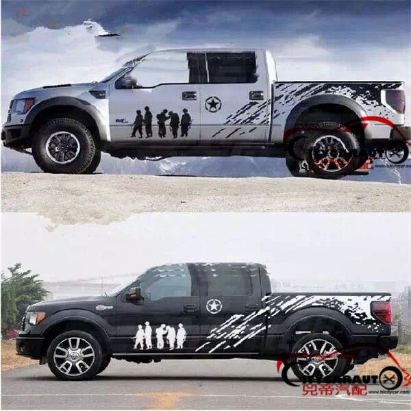 Autocollant de corps entier de voiture KK matériel pour NAVARA F150 DMAX pick-up voiture autocollant de corps de porte latérale adapté pour pick-up NISSAN ISUZU VW MAZDA