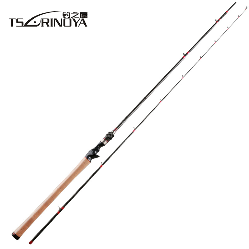 TSURINOYA Casting Rod 2.47m 2 Section Carbon Distance Throwing Rod Fishing Rod FUJI Reel Seat and FUJI Guide Ring Canne A Peche
