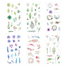 лучшая цена 6 Pcs/Pack Cute Flower Scrapbooking Stickers for Diary DIY Craft Decoracion Journal Photo Albums Decoration Sticker