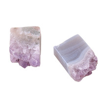 1pc Crystal Natural Amethyst Quartz Point Cluster Healing Specimen Stones Minerals Home Decor