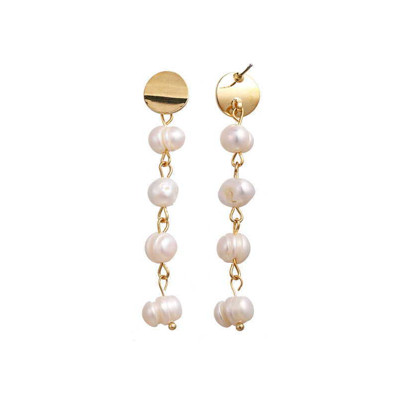Yhpup New 2019 Elegant S925 Silver Pin Luxury Natural Pearls Long Drop Earrings Charm Women Party Wedding Jewelry Accessories