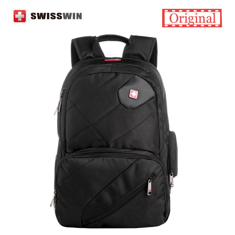 Swisswin Backpack Youth Cool Backpack for teenagers Swissgear Multi-pocket Waterproof Computer Backpack Male Urban Backpack Bag swisswin black business backpack sw9218 male swiss 15 6 computer swissgear wenger bag 23l mochila