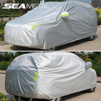 Car Covers Sedan SUV Full Cover Sun Shade Reflective Strips Rain Snow Dust Waterproof Protection Anti UV Outdoor Car Accessories