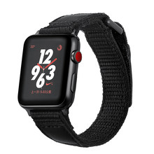 Fashion Nylon Loop bracelet Band For Apple Watch Series 1 2 3 4 Magic buckle Watchband For iwatch Series 38mm 40mm 42 44 Strap(China)