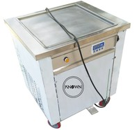 The new style single square pan size 500mm with 1 unit fry ice cream rolls fried ice cream roll machine for sale
