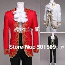 Свободный корабль мужские период вышивка куртка с брюками Средневековый сценическое Ренессанс/Принц очаровательный сказка Уильям