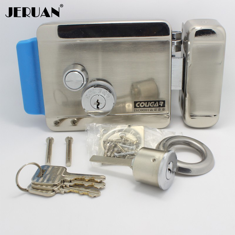 JERUAN FREE SHIPPING Access Control Electronic Door Lock For Video Door Phone Doorbell Home Security In Stock free shipping new video intercom electronic door lock for access control system door phone doorbell door intercom in stock