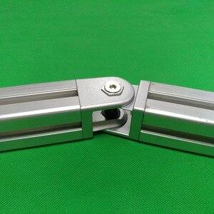 Image 3 - 2020/3030/4040/4545 çinko alaşım oturma menteşe alüminyum profil bağlantı parçaları dik açı çinko alaşım esnek Pivot bağlantı konnektörü
