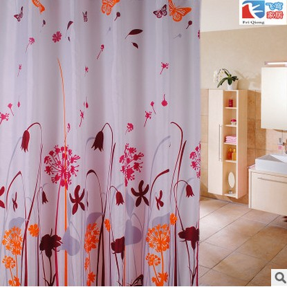 180 180cm 1Pcs Dandelion Shower Curtains Design Water Resistance Fabric Polyester Waterproof Home Bathroom Curtains
