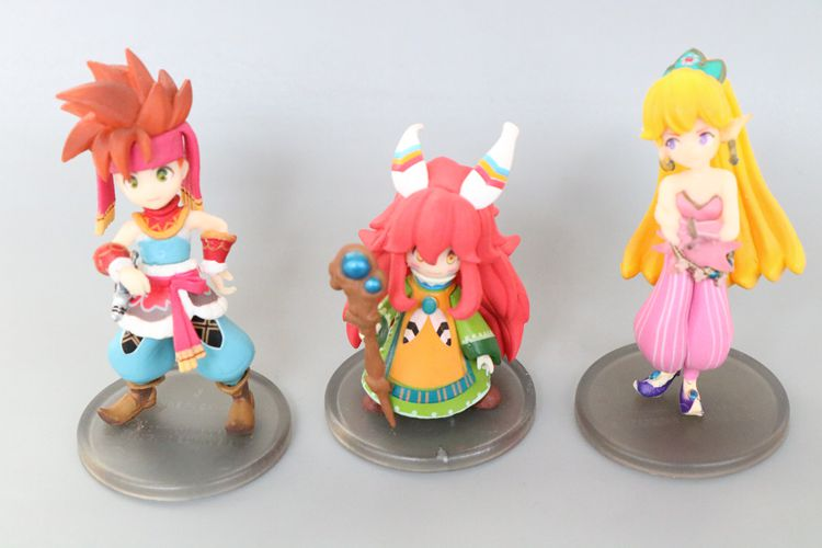 1pcs 8~12cm Japanese Cartoon Anime Secret Of Mana Onegai Teacher Action Figures Toy PVC Kids Collection Doll D11