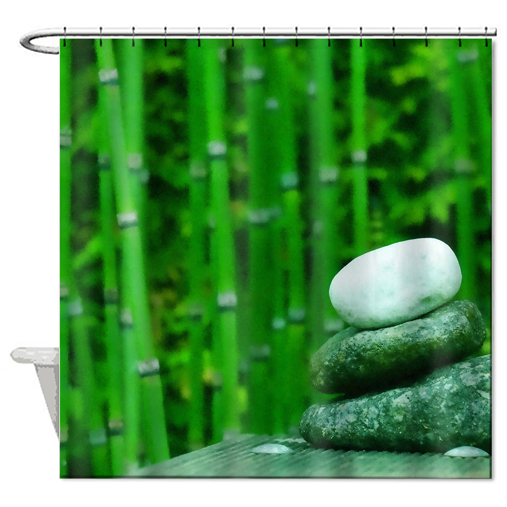 2017 di alta qualit in poliestere tenda della doccia 6672 pollice bagno tende bagno impermeabile cortina natura di bamb vasca