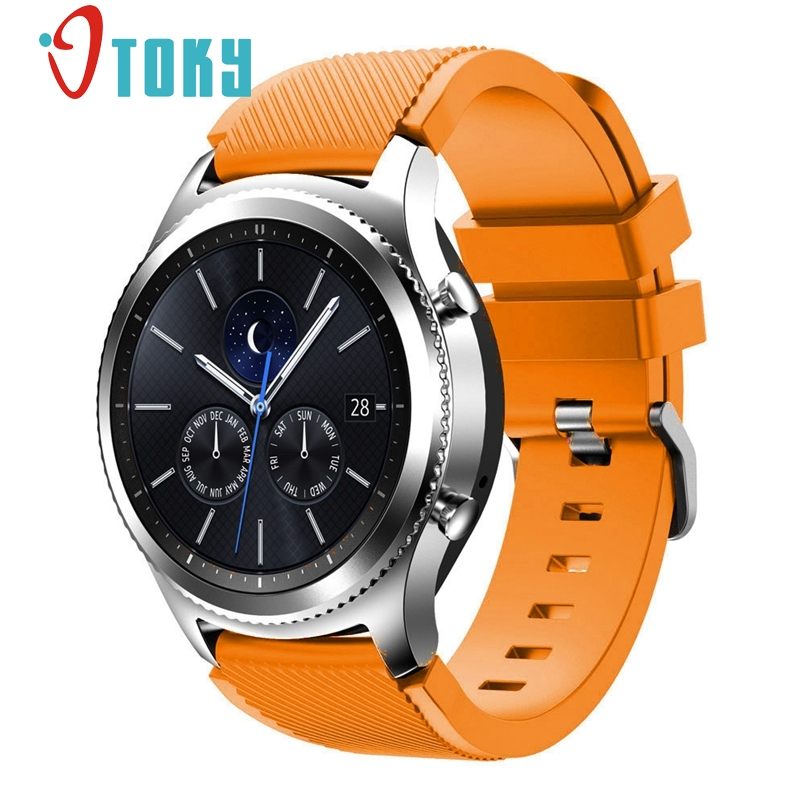 New Arrive Rubber Wrist Strap for Samsung Gear S3 Classic Silicone Watch Band Bracelet Band 22mm dropship silicone rubber watch band strap replacement smartwatch bands link bracelet for samsung galaxy gear s2 sm r720 black blue red