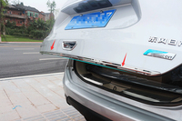 Accessories Stainless Steel Rear Tailgate Trunk Lid Cover Trim For Nissan X Trail X Trail T32