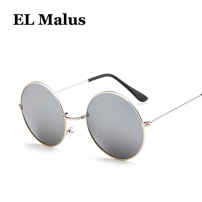 Women's Glasses el Malus retro Metal Frame Sunglasses Women Mens Red Yellow Green Lens Mirror Black Silver Gold Shades Sexy Ladies Sun Glasses