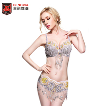 New Arrival 2017 women Ladies  belly dance costume set beaded new Samba dancing suit stage wear