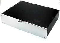 Tüketici Elektroniği'ten Amplifikatör'de WA47 ses amplifikatörü Şasi Kabuk Durumda Muhafaza Kutusu Alüminyum 310x425x92mm