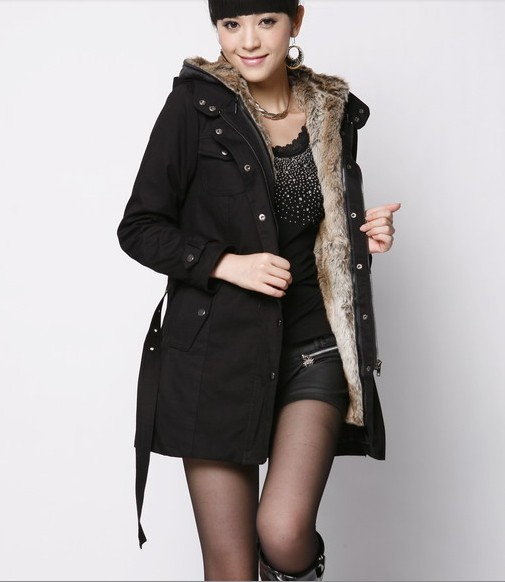 Musim semi dan Musim Dingin membuat marah wanita wol liner parit - Pakaian Wanita - Foto 1
