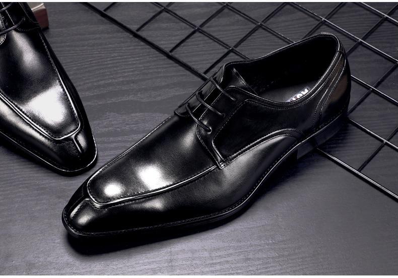 Men's Casual Shoe Business Mens Genuine Leather Shoes Men Big Size 45 Casual Leather Oxford Shoes For Men Lace Up Brogues Formal (12)