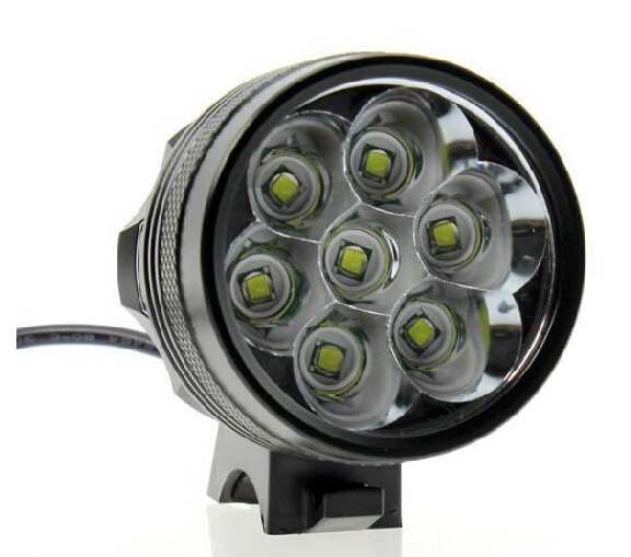 UK 7x XML T6 9800lm Mountain Bike Bicycle Light Head Light Lamp+Battery Pack