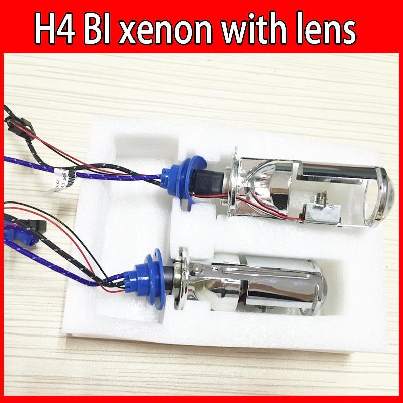 Galactica Sea 2pcs HID Car H4 Bi Xenon Projector Lens H4 hi lo mini 12V 35W 55w for auto Headlight spotlight эксмо 978 5 699 65610 3