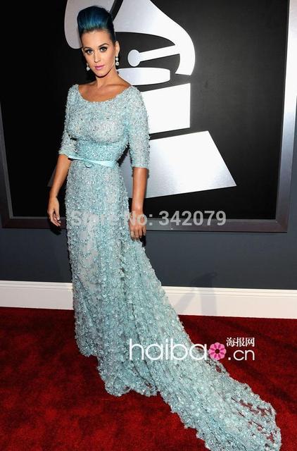 ph08890 Katy Perry dress elie saab Grammy Awards round neckline ...