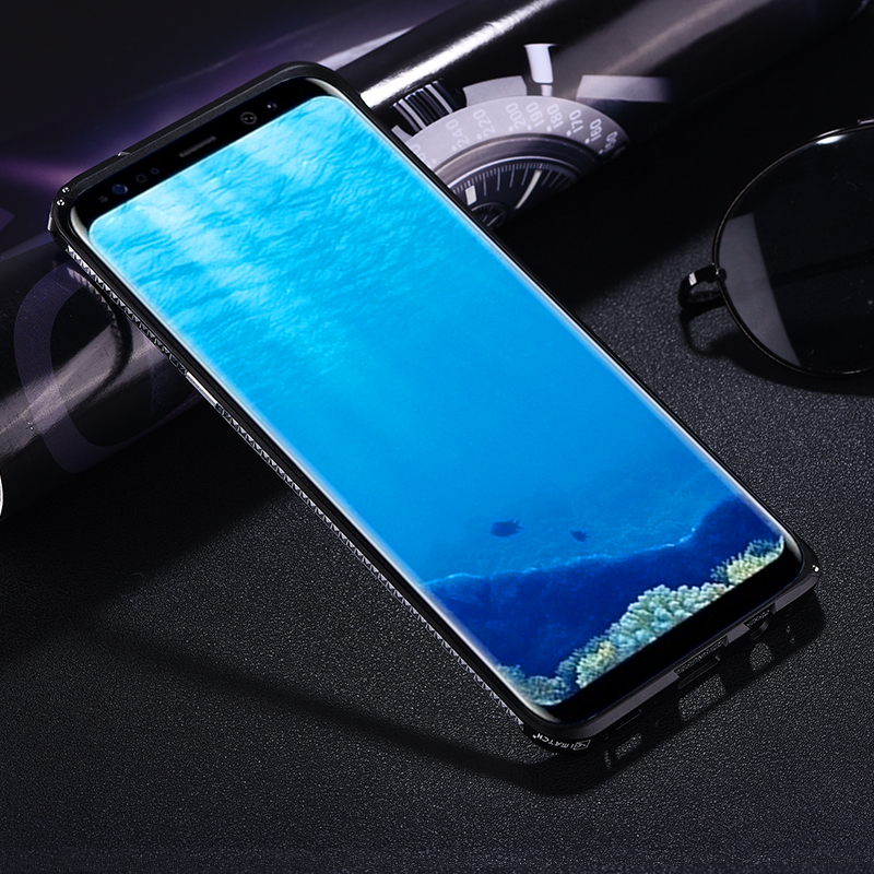 Original iMatch Bumper Case For Samsung Galaxy S8 Plus Note 8 Luxury Diamond Aluminum Metal Invisible Kickstand