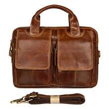 Business Travel Cow Leather Handbag Briefcase Laptop Shoulder Vintage Bags 2018 Male Brown Leather Shoulder Brand Crossbody Bags стоимость