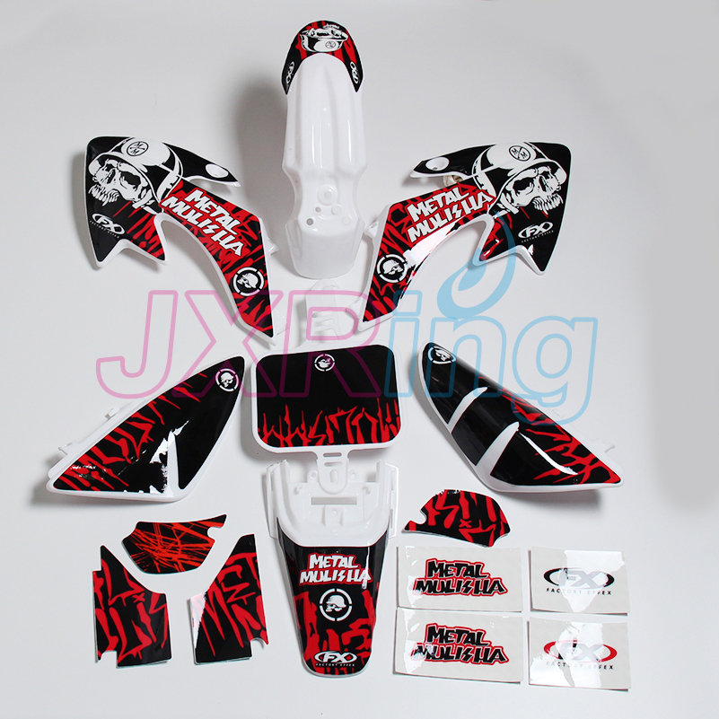 Motorcycle CRF70 3M graphic decals sticker set and full plastic fender  for  MOTOCROSS DIRT PIT BIKES CRF70 metalmulisha motorcycle dirt bike body crf70 plastic fender