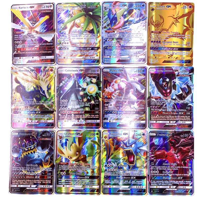 GX MEGA Shining Cards Game Battle Carte 200 Pcs 25 50pcs 100pcs Trading Cards Game Children Pokemons Toy(China)