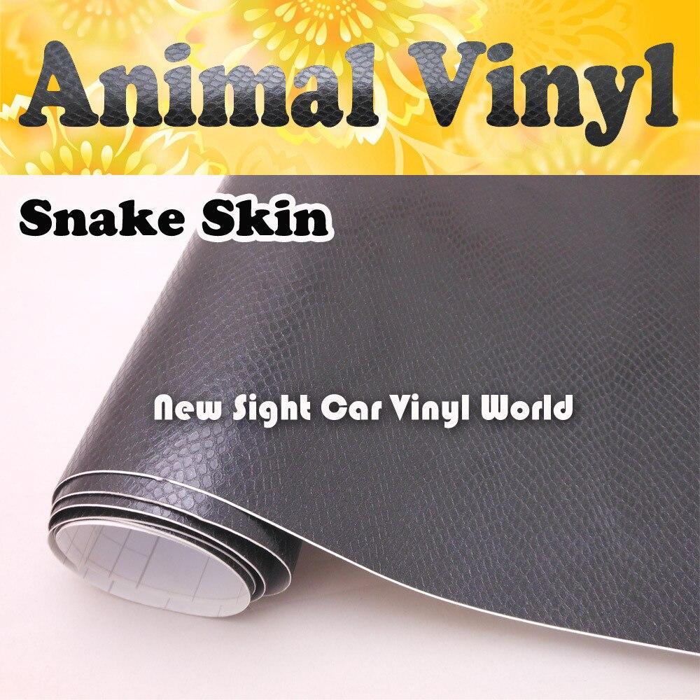 Haute qualité Animal vinyle peau de serpent Film de voiture vinyle emballage bulle libre pour voiture autocollants taille: 1.52*30 M/Roll