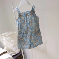 Tiny cottons 2019 Toddler girl jumpsuit floral cotton overalls shorts