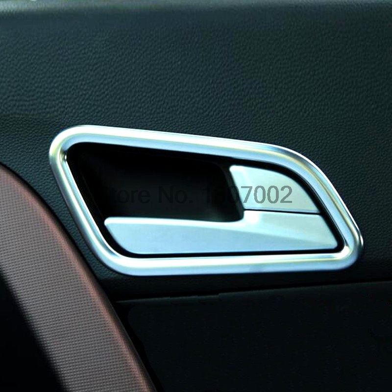 For Hyundai Creta IX25 2014 2015 2016 ABS Chrome Car Interior Door Handle Ring Around Cover Molding Trim Decoration