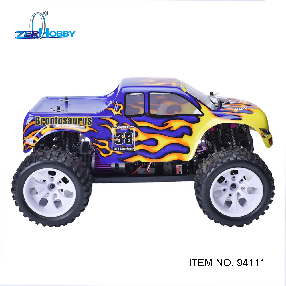 HSP RONTOSAURUS RACING CAR 94111 1/10 4WD OFF ROAD ELECTRIC REMOTE CONTROL MONSTER TRUCK 7.2V 1800MAH SIMILAR TO REDCAT HIMOTO