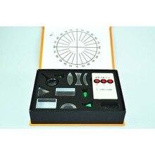 新しい物理光学実験セット三角プリズムレーザーライト凹凸レンズセット科学機器子供のギフトのおもちゃ