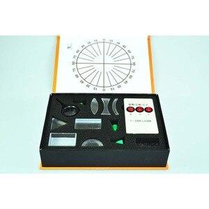 Image 1 - Yeni Fiziksel Optik Deney Seti Üçgen Prizma Lazer Işıkları Dışbükey Içbükey Mercek Seti Bilim Ekipmanları Çocuk Hediye Oyuncak