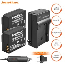 купить 2X 7.2V 1800mAh DMW-BLC12 Li-ion Camera Battery+Battery Charger+Car charger For Panasonic FZ1000, FZ200, FZ300, G5, G6, G7 L10 в интернет-магазине